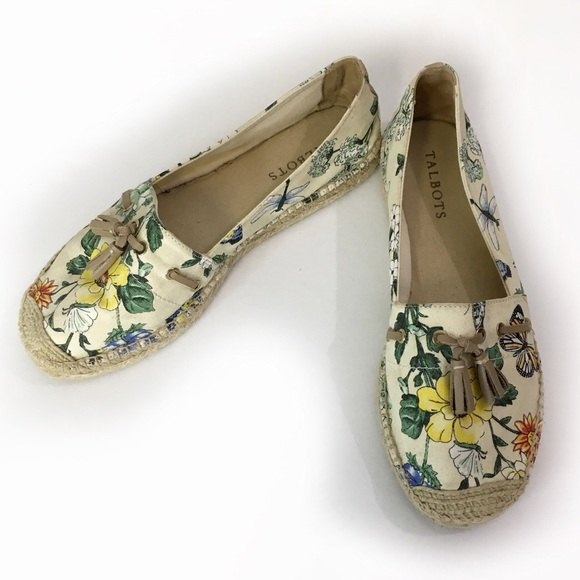 Talbots Shoes - Talbots Floral Espadrille Flats